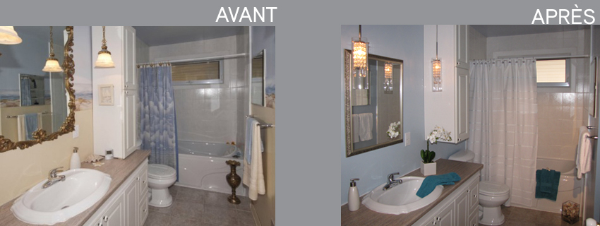 Home staging par pam la venne home staging laval st rose Salle de bain home staging