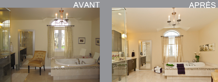 Home staging par pam la venne home staging repentigny 2 for Salle de bain home staging